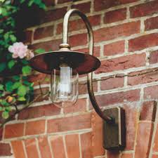 a striking outdoor light handmade in solid brass our granary wall