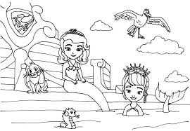 Small Picture Sofia The First Coloring Pages Floating Palace Sofia the First