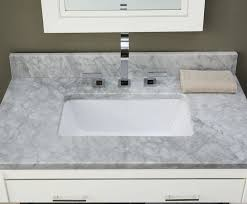 amazing marble bathroom vanity tops white carrara 31inch top with rectangular cutout sink single