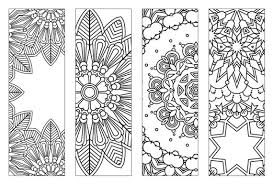 Bookmarks Coloring Pages Printable Feathers Page For Adults Pdf