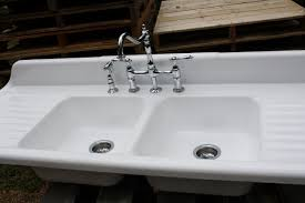 1940 cast iron farmhouse sink 66 x 24 double basin double