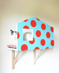 Cat Wall Design For Color Chart _ Sugar Paper With Red Polka Dots