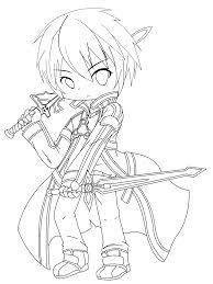 Kirito Sword Art Online Coloring Page 塗り絵 塗り絵 と ソードアート