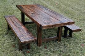 outdoor wood dining furniture. Rustic Outdoor Dining Table Wood Patio Furniture Make Random 2 And I M