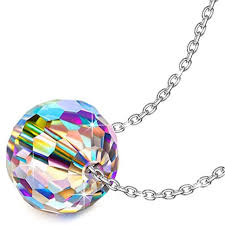 gifts mom fantastic world s925 sterling silver necklace round pendant swarovski
