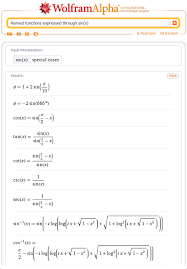 named functions expressed through sin x one can solve equations