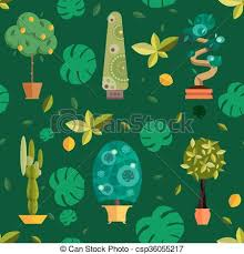 Indoor home office plants royalty Houseplants Indoor Seamless Pattern With Houseplants Indoor And Office Flowers In Pot Csp36055217 Can Stock Photo Seamless Pattern With Houseplants Indoor And Office Flowers In Pot