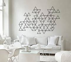 interior decoration amusing geometric triangles wall art decals