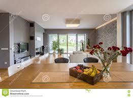 Open floor plan apartment stock image. Image of decoration - 77154507