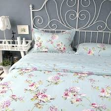 ikea bed sheets royal style cotton blue fl duvet cover bed sheet set full queen king