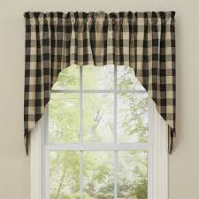 Park Designs Curtains And Valances Black Tan Wicklow Swag Curtains Buffalo Check Park Designs Farmhouse Window