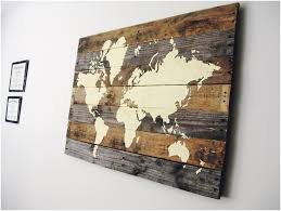 pallet board wall art maps of the world best designing rectangular shape hanging wooden plated earth