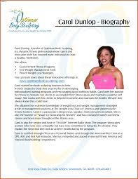 Biography Template Personal Bio Example Trainer Bios Examples Systematic Quintessence 23