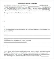 Contract Sample In Word | Nfcnbarroom.com