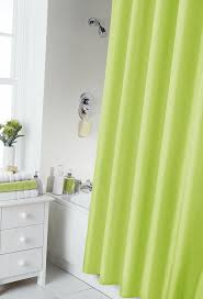 vibrant lime green shower curtain 180cm x 180cm includes rings co uk kitchen home