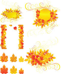 autumn frames and borders vector