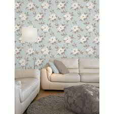 Fine Decor Magnolia Wallpaper Duck Egg ...