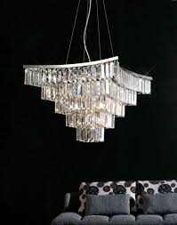 boutique square crystal pendant chandelier with ideas 10