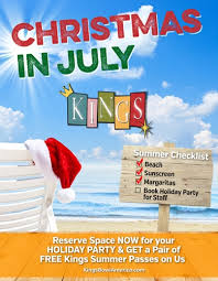 Christmas... In July? Book your holiday party, get Summer Fun passes free!