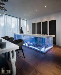 beautiful beautiful kitchen. This Is A Beautiful Kitchen Island Designed By Kolenik Called Ocean Kitchen. Features Big L-shaped Aquarium With Mirror In It That Creates S