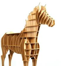 wooden horse statue 1 set inch home decor art desk creative wood seahorse wall the and image 0 wooden horse