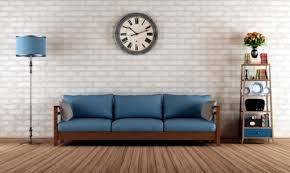 retro look furniture. catchy vintage wall clock tips for the retro look in living room furniture