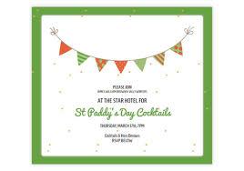 Festive St Patricks Day Email Invitations