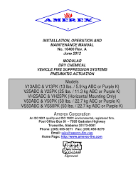 amerex vs manual 16400a pneum op valve electrical connector