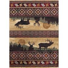 8 x large red brown and beige area rug nature furniture 10 by 7 grey