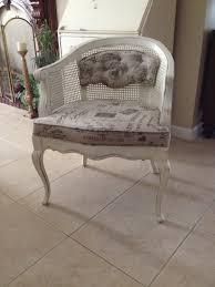bella vintage furnishings accent barrel chair bella shabby chic cane tufted back upholstered in decorative