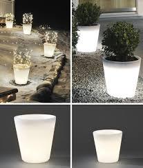 large illuminated planter pot large