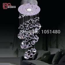 crystal chandeliers for new round led crystal chandelier hallway lamp modern lighting