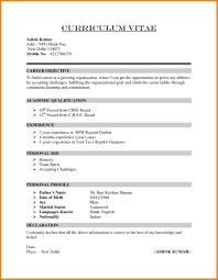 Resume Example Of A Resume 22 Format For Job Fair 11 9 Examples