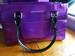 new younique purple makeup tote bag purse 1 of 1