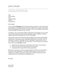 Resume Cover Letter Sample Information Technol Simple Informative