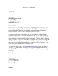Personal Assistant Cover Letter Example Job And Resume Template