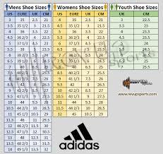 Adidas Slippers Size Chart Size Charts Revup Sports