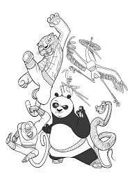 Kung Fu Panda Coloring Pages For