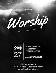 Graphic Design Event Flyers Diy Church Event Flyer Template Heavenly Worship For