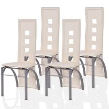 set of 4 dining chairs. Amazon.com - Giantex 4 Pcs Dining Chairs PU Leather Steel Frame High Back Contemporary Home Furniture (White) Set Of L