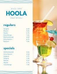 Chart House Cocktail Menu Customize 239 Cocktail Menus Templates Online Canva