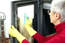 cleaning glass fireplace doors best way wood stove napole er