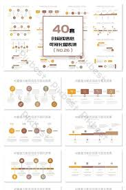 Timeline On Ppt 40 Retro Timeline Ppt Charts Powerpoint Template Pptx Free