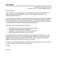 leading accounting finance cover letter examples resources accounts payable specialist