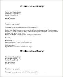 charitable contribution receipt letter donor acknowledgement letter best of donation receipt for tax