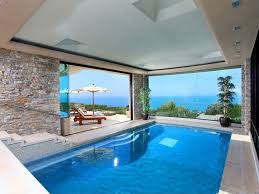 luxury home swimming pools. Simple Home Elegant Indoor Luxury Home Pool Modern Pool With Ocean View On Swimming Pools M