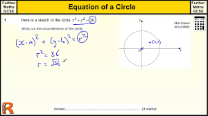 equation of a circle gcse further maths revision exam paper practice