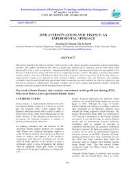 Pdf Risk Of Profit Loss Sharing Financing The Case Of Indonesia