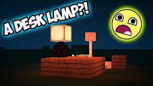 how to make a lamp in minecraft how to make a desk lamp with regard to how to make a lamp in minecraft