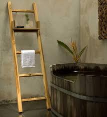 wood towel stand. Teak Ladder With Shelf Decorative Or Towel Rack Hand Wood Towel Stand